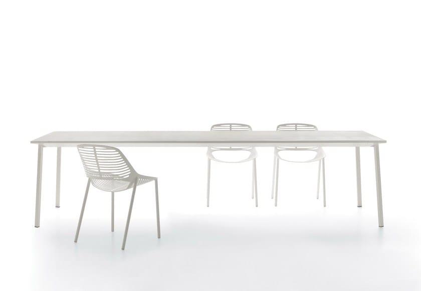 Rectangular porcelain stoneware garden table NEWTILE | Rectangular table - FAST