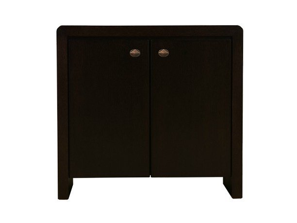 Wood veneer highboard with doors ORICK LOW CABINET by Hamilton Conte Paris