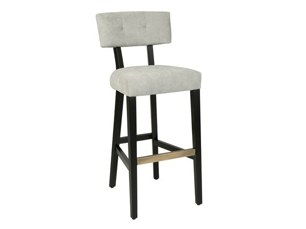 Upholstered fabric counter stool LEOPOLDO | Counter stool - Hamilton Conte Paris