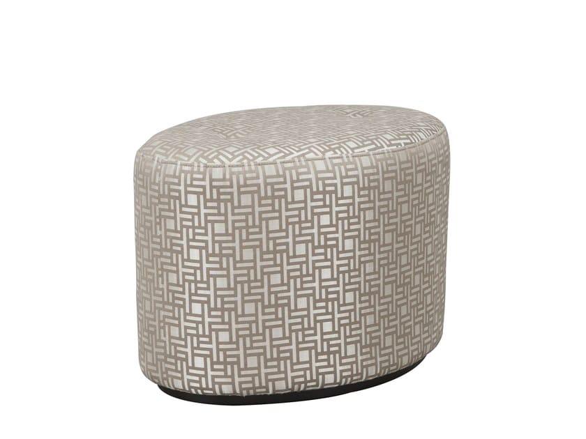 Upholstered fabric pouf BABETTE   Fabric pouf - Hamilton Conte Paris