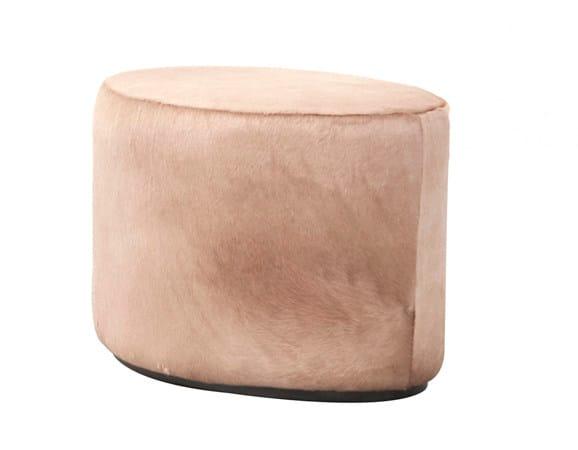 Upholstered pouf BABETTE   Leather pouf - Hamilton Conte Paris