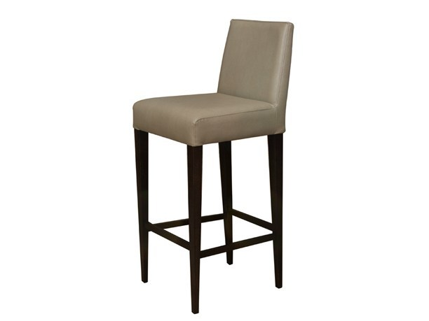 Upholstered leather counter stool Counter stool - Hamilton Conte Paris