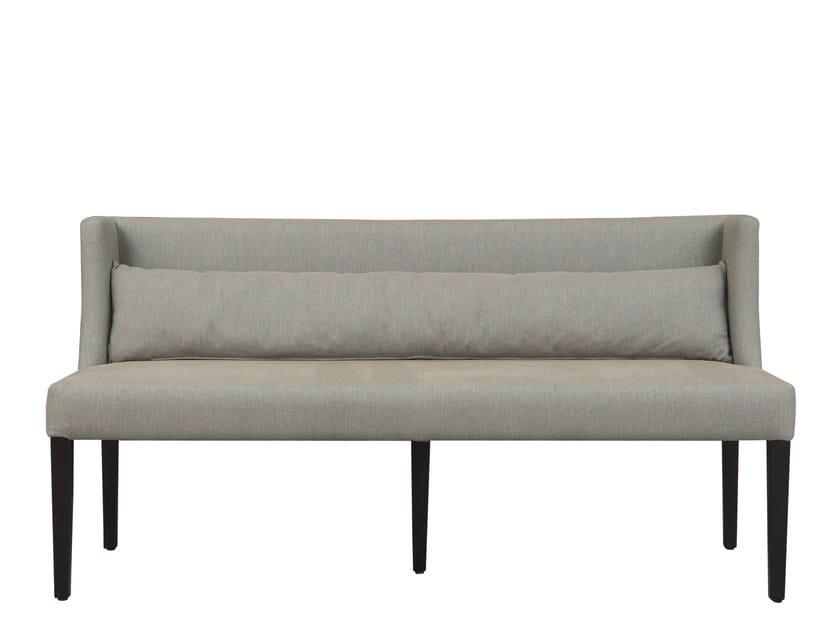 Fabric bench with back ONA - Hamilton Conte Paris