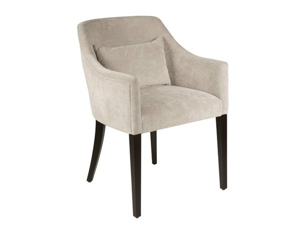 Upholstered fabric chair with armrests EUGÉNIE | Chair with armrests - Hamilton Conte Paris