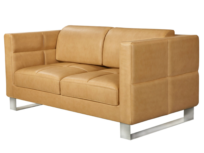 2 seater leather sofa ROMYS | 2 seater sofa by AZEA