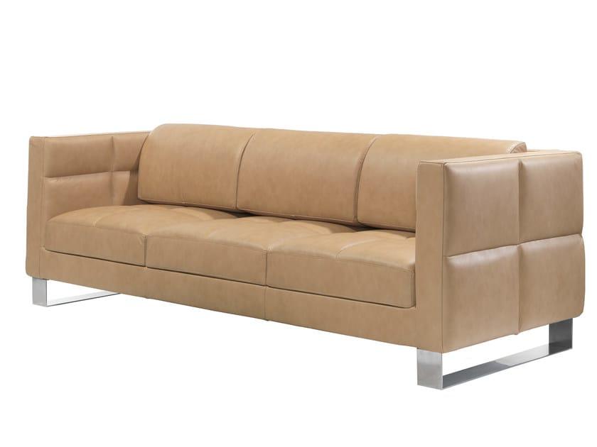 3 seater leather sofa ROMYS | 3 seater sofa - AZEA