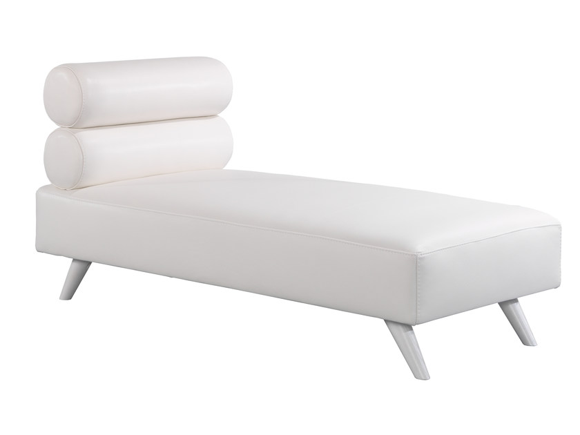 Upholstered leather day bed LUTHECYA   Leather day bed - AZEA