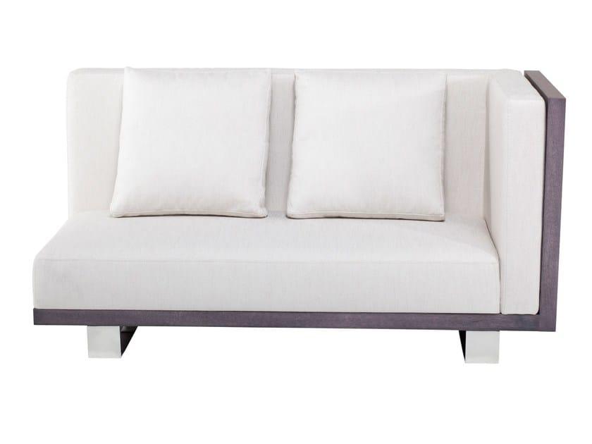 Corner 2 seater fabric sofa CAMPANA by AZEA