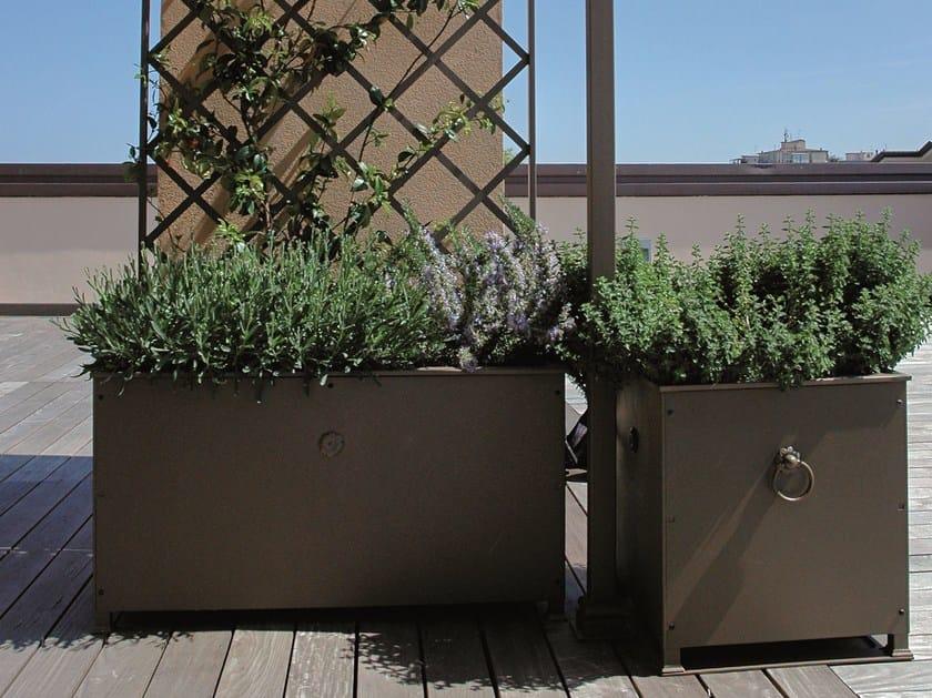 Iron planter with trellis ALTEA by UNOSIDER
