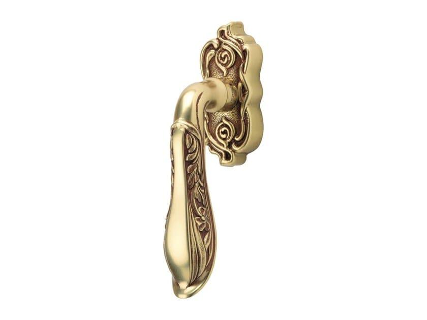 DK chromed brass window handle on rose LIBERTY | DK window handle by LINEA CALI'