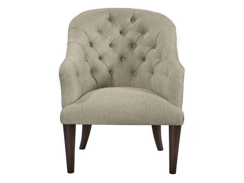 Tufted fabric easy chair RAMBO | Easy chair - AZEA