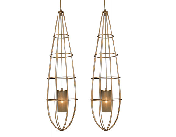 Metal pendant lamp ZEPPELIN by Hamilton Conte Paris