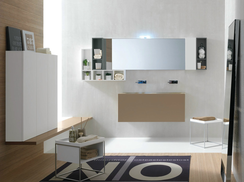 Bathroom furniture set CANESTRO - COMPOSITION C10 by NOVELLO
