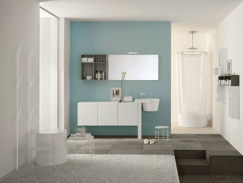 Bathroom furniture set CANESTRO - COMPOSITION C07 - NOVELLO