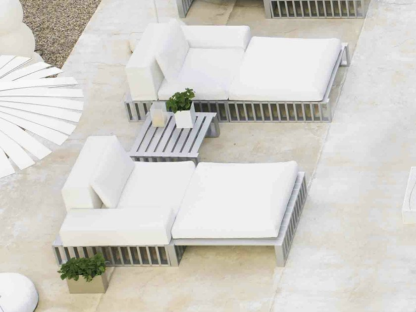 aluminium garden daybed docks docks collection by gandia. Black Bedroom Furniture Sets. Home Design Ideas