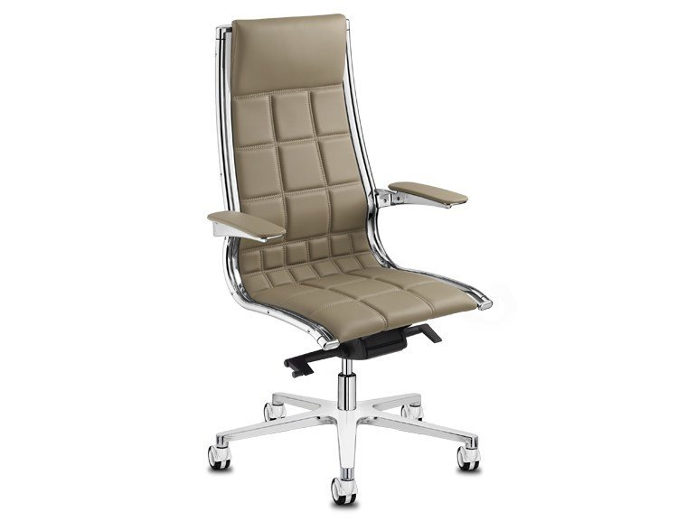 Height-adjustable executive chair with 5-spoke base with armrests SIT ON IT 2 | Executive chair - SitLand