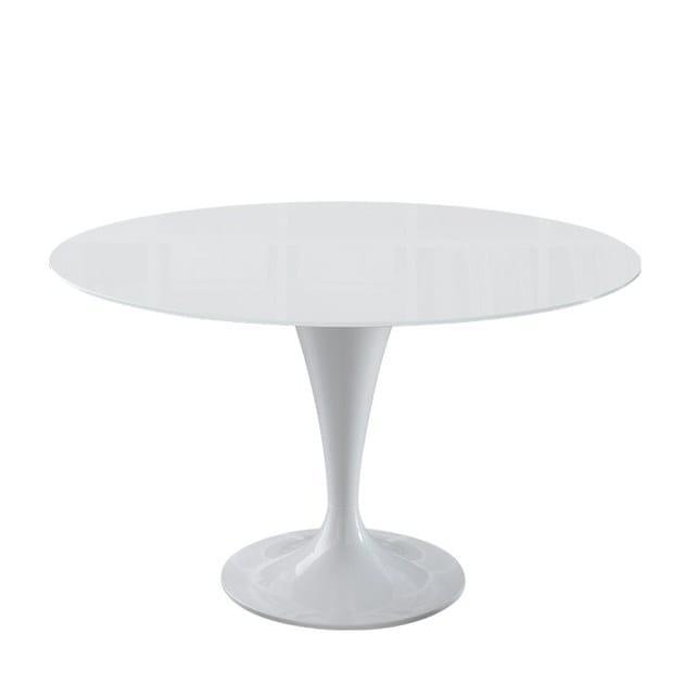 Tavolo da cucina da pranzo ovale in cristallo design - Tavolo ovale cucina ...