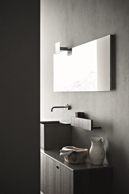 arredo bagno completo in legno craft - composizione n01 - novello - Novello Arredo Bagno Prezzi