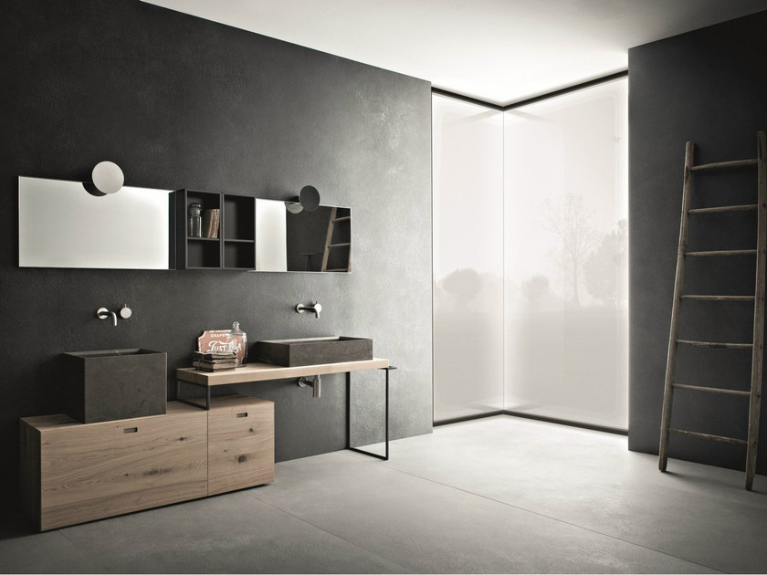Bathroom furniture set CRAFT - COMPOSITION N06 - NOVELLO