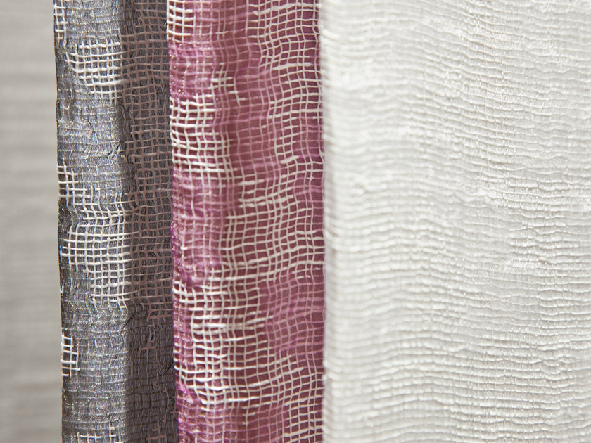 Jacquard polyester fabric for curtains TESEO by Equipo DRT