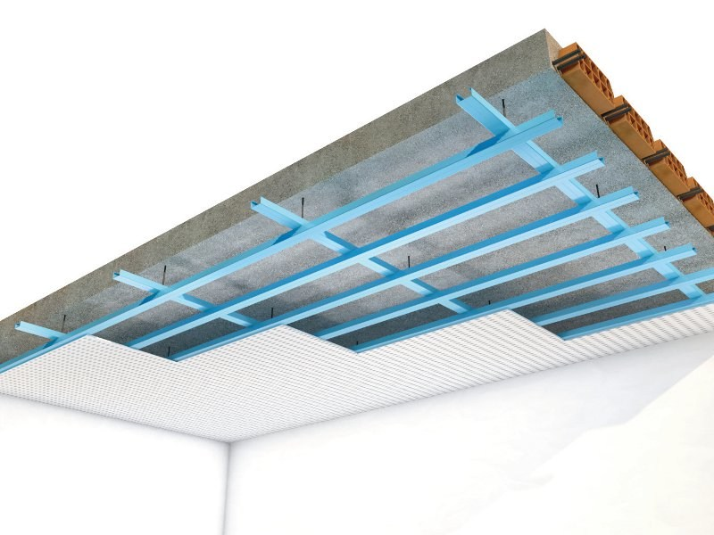 Acoustic plasterboard ceiling tiles Rigitone™ Activ'Air® by Saint-Gobain Gyproc