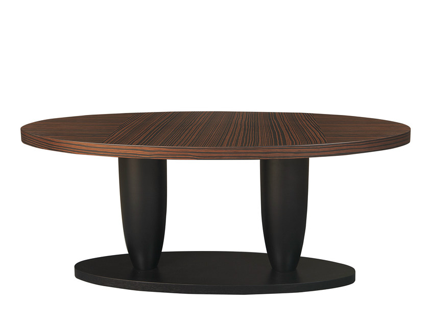 Oval ebony dining table THÉA LOUNGE - Hamilton Conte Paris
