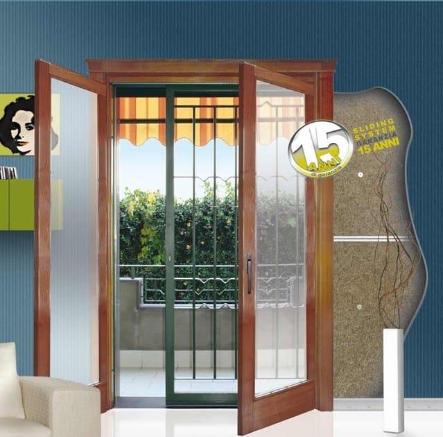 Subframe for pocket sliding windows for security grille BELLAVISTA - SLIDING SYSTEM
