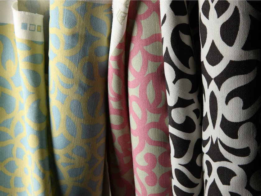 Printed fabric with graphic pattern ITYLO by Equipo DRT