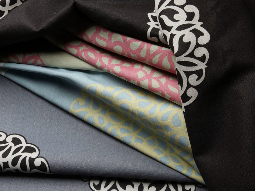 Printed fabric with graphic pattern KOS by Equipo DRT