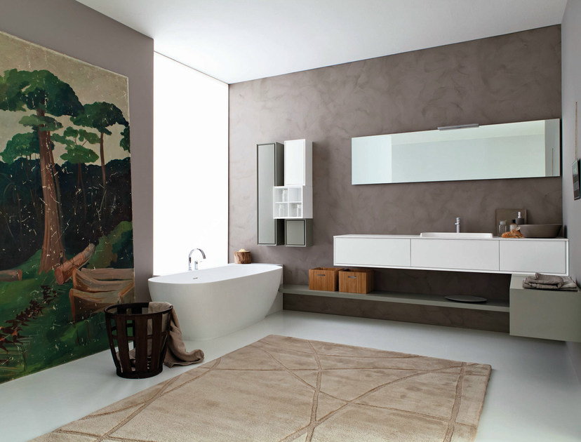 Bathroom furniture set LIBERA 3D - COMPOSITION L01 by NOVELLO