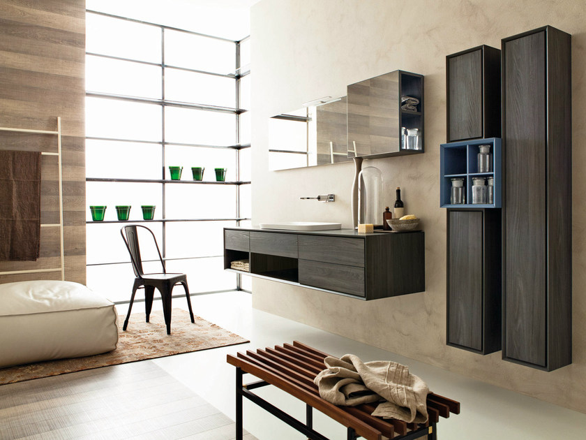 Bathroom furniture set LIBERA 3D - COMPOSITION L02 - NOVELLO