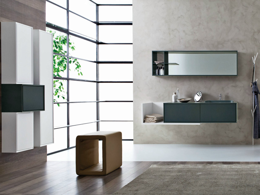 Bathroom furniture set LIBERA 3D - COMPOSITION L03 - NOVELLO