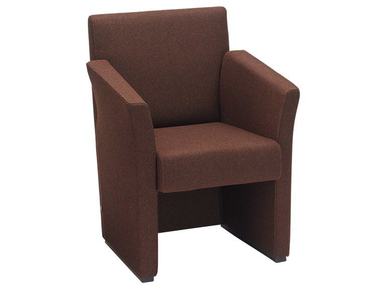 Fabric easy chair with armrests ZED | Easy chair - SitLand