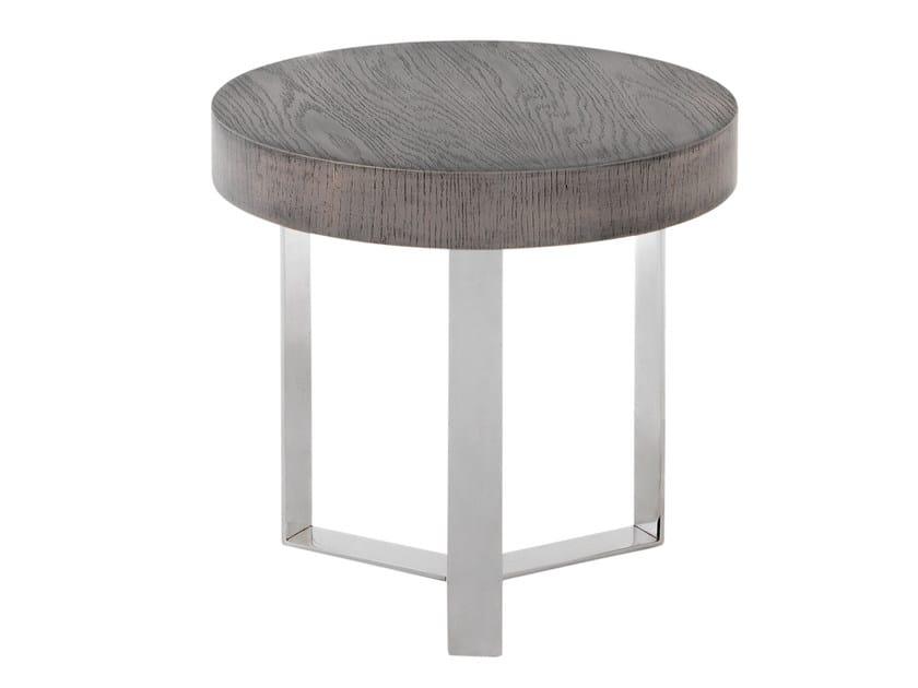 Low wood veneer side table ITALIA by AZEA