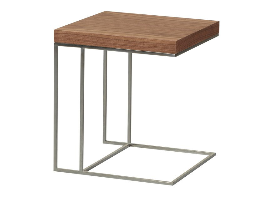 Low wood veneer side table KAM - AZEA
