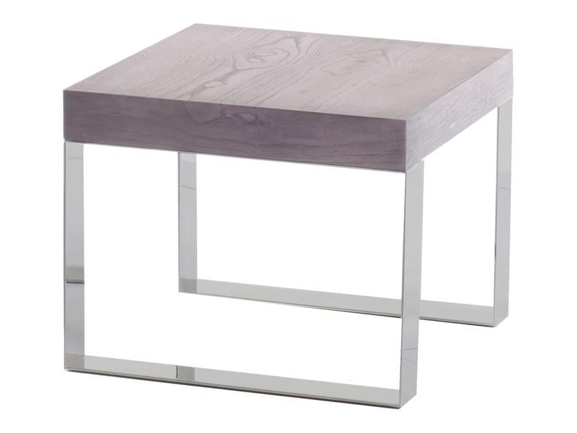 Low wood veneer side table BOLLY - AZEA