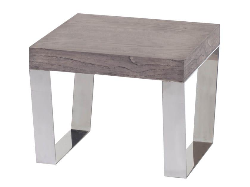 Low wood veneer side table DAZY - AZEA
