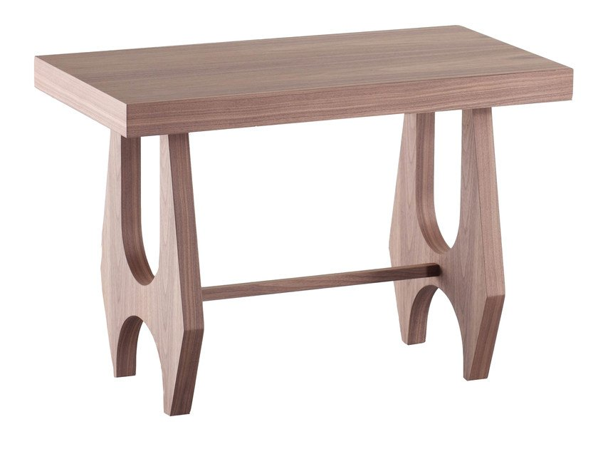 Low wood veneer side table BRAZILIA - AZEA