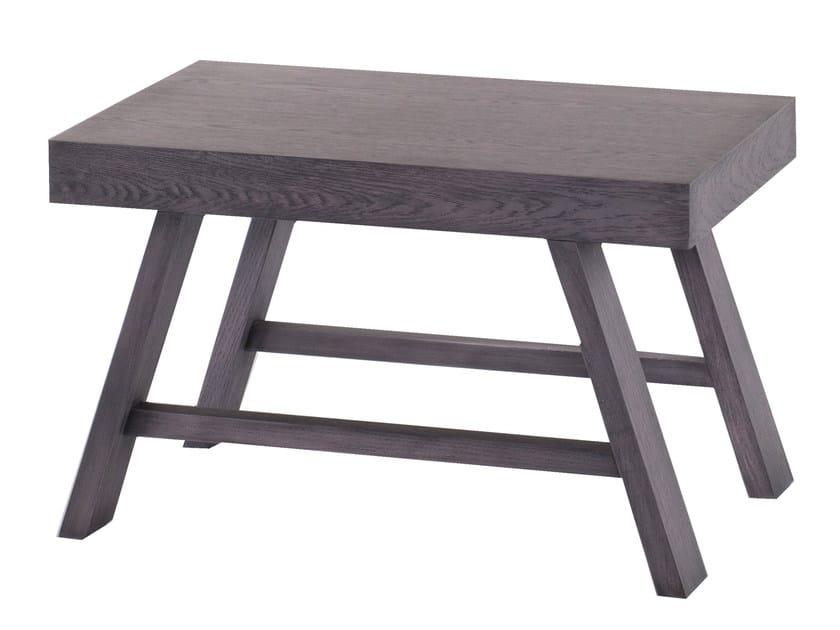 Low wood veneer side table DYTA - AZEA