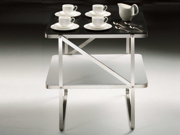 Square wooden coffee table CARLOTTA   Coffee table - FLEXFORM