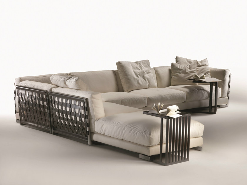 Corner sectional fabric sofa with removable cover CESTONE | Corner sofa - FLEXFORM