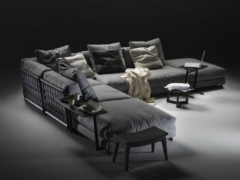 Corner sectional fabric sofa with removable cover CESTONE 09 | Corner sofa - FLEXFORM