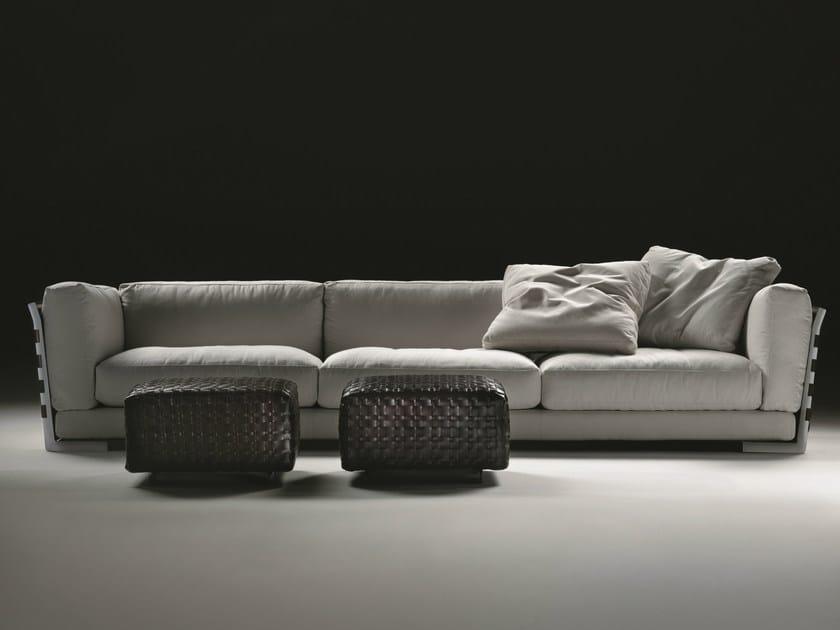 3 seater fabric sofa with removable cover CESTONE 09 | Sofa - FLEXFORM