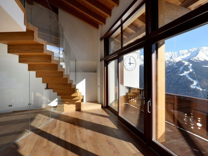 Wooden Open staircase ECOLINE by Interbau
