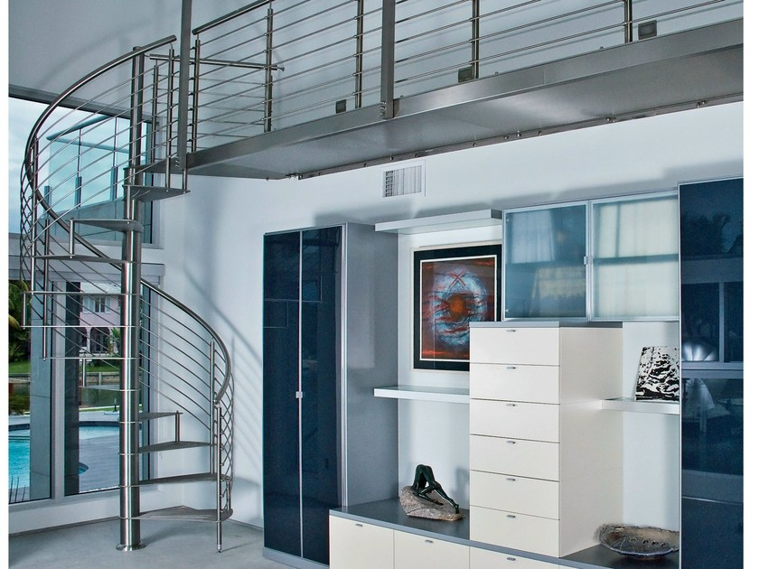 Steel Spiral staircase 78 | Spiral staircase by Interbau