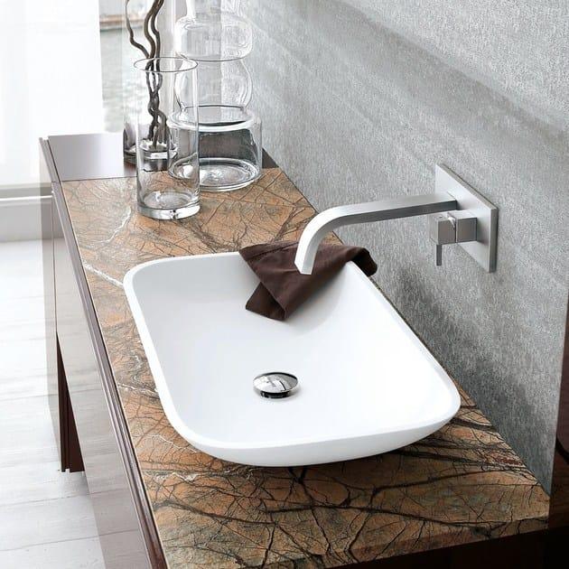 Miscelatore per lavabo a muro monocomando hito quarantuno miscelatore per lavabo a muro geda - Rubinetti a muro bagno ...