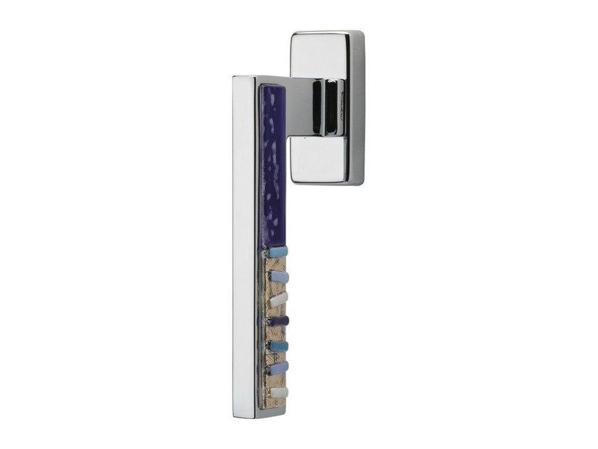 DK chromed brass window handle on rose SINTESI MART | DK window handle - LINEA CALI'