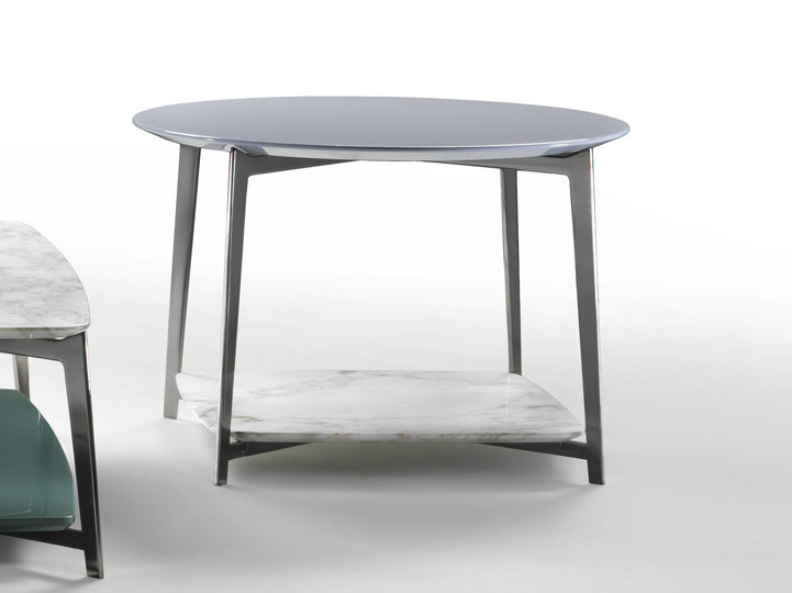 Round marble coffee table DOUBLE | Round coffee table - FLEXFORM