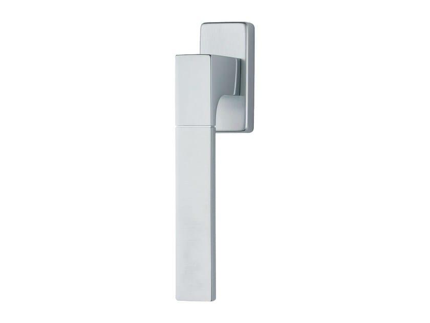 DK chromed brass window handle on rose THAIS   DK window handle - LINEA CALI'
