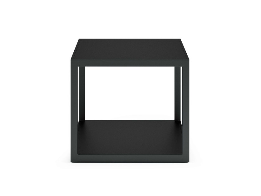 Square stainless steel garden side table GARDEN EASY | Square coffee table - Röshults